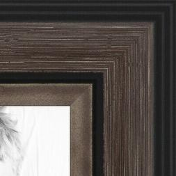 ArtToFrames Custom Picture Poster Frame Gray Grey and Black