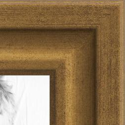 ArtToFrames 1.25 Inch Muted Gold Glow Picture Poster Frame -