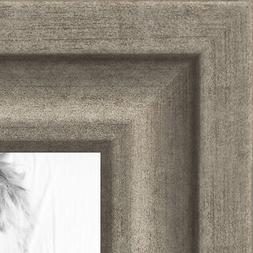 ArtToFrames 1.25 Inch Muted Warm Silver Picture Poster Frame