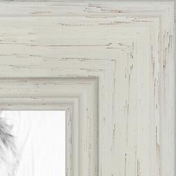 ArtToFrames Custom Picture Poster Frame Pearl White Stain 1.