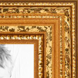 """ArtToFrames Custom Picture Poster Frame Beaded Gold 1"""" Wide"""