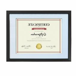 8.5 x 11 Frame Set of 2 Diploma Certificate Document Black W