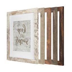 Rustic Wood 11x14 Frame with Glass Mat 8x10 Photo Poster Pic