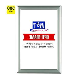 """11x17 Snap Frames, 1"""" Profile, Safe Corners, Wall Mounted Fr"""