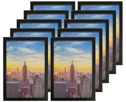 Frame Amo 13x19 Black Wood Picture or Poster Frame, 1 inch W