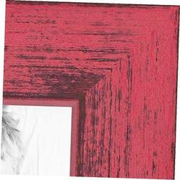 ArtToFrames 16x16 inch Berry Rustic Barnwood Wood Picture Fr