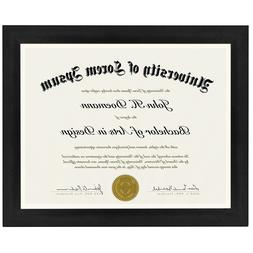 2-Pack, 8.5x11 Inch Document Frames - Made to Display Certif