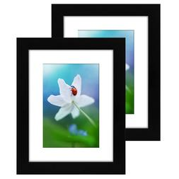 Americanflat 2 Pack - Tabletop Frames - Glass Fronts, Easel