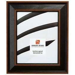 "Craig Frames 2"" Wide Farmhouse Black w/ Brown Wood Wall Deco"