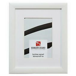 Craig Frames 23247812 12x12 White Picture Frame Matted to Di