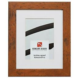 Craig Frames 26011 8.5x11 Brown Picture Frame Matted to Disp