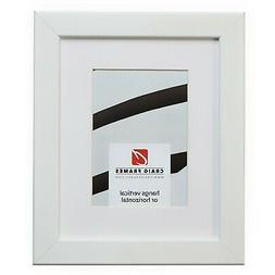 Craig Frames 26267 10x13 White Picture Frame Matted to Displ