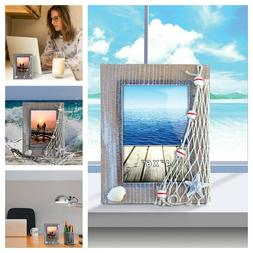 4 x 6 Inch Sculptural Photo Holder Wooden Desk Picture Frame