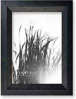 Sixtrees 4X6 and 5X7 Inch Wood Picture Frames Set,Black Or W