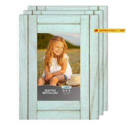 Icona Bay 4X6 Picture Frames, Rustic Picture Frame Set, Natu
