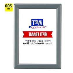 5x7 Snap Opti Frame, Aluminum, Wall Mounted Frames, Front Lo