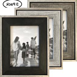 5x7 Picture Frames  - Rustic Distressed Industrial Frames -