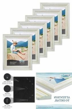 6 Pack Icona Bay 8 x 10 Picture Frames Creamy White Picture