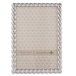 Lawrence Frames 710046 Silver Metal Rope Picture Frame, 4 by