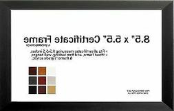 """8.5"""" x 5.5"""" Certificate Frame - Wood Frame - Holds any docum"""