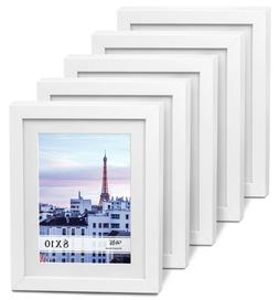 """Cavepop 8x10"""" White Wood Textured Picture Frames - Set of"""