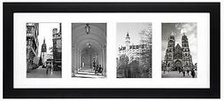 Golden State Art, 8x20 Black Photo Wood Collage Frame with R