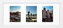 Golden State Art, 8x20 White Photo Wood Collage Frame, For