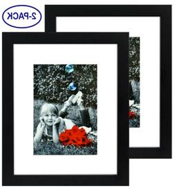 9x12 Picture Frame Black  w/ 6x8 Mat GLASS FRONT COVER - Dis