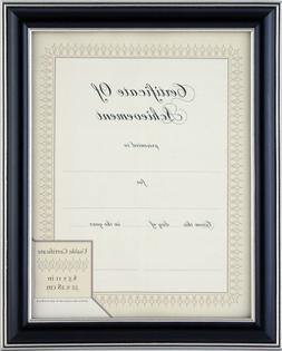 Gallery Solutions Black and Silver Document Frame, 8-1/2 by