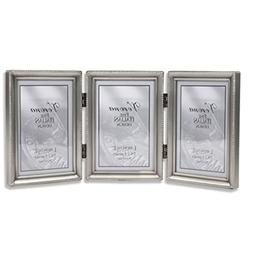 Lawrence Frames Antique Pewter Hinged Triple 3x5 Picture Fra