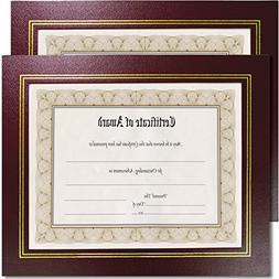 NuDell Leatherette Document Frame, 8-1/2 x 11, Burgundy, Pac