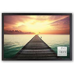 Snap 12x18 Black Wood Wall Photo Frame