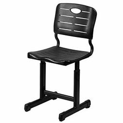 adjustable height black student chair with black