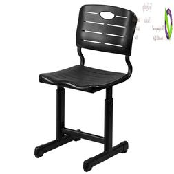 Flash Furniture Adjustable Height Black Student Chair With B