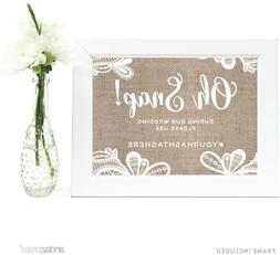 Andaz Press Personalized Wedding Framed Party Signs, Burlap
