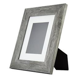 Bauhaus Table-top 8x10 Modern Gray Barnwood Standing Picture