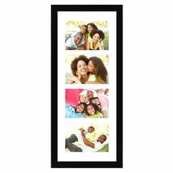 Americanflat Black Collage Picture Frame with 4 Openings - M