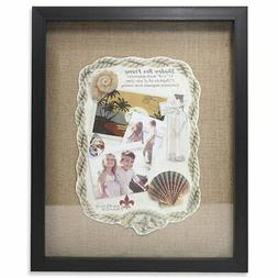 Lawrence Frames Black Front Burlap Shadow Box Picture Frame