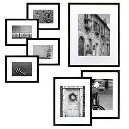 Gallery Perfect 7 Piece Black Wood Photo Frame Wall Gallery