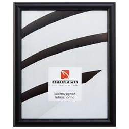 Craig Frames Bullnose, Contemporary Black Picture Frame