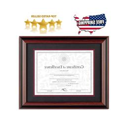 Certificate Frame Wide Document Diploma Rosewood 11x14 Photo