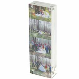 Clear Acrylic Magnetic Photo Frames Double-Sided 2x6 Picture