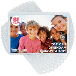 Freez A Frame Clear Magnetic Photo Frame Pockets for 2.5""