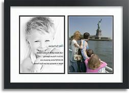 """ArtToFrames Collage Mat Picture Photo Frame  with 2 8.5x11"""""""