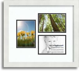 "ArtToFrames Collage Mat Picture Photo Frame 3 4x6"" Openings"