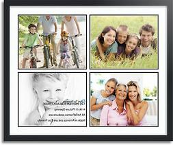 """ArtToFrames Collage Mat Picture Photo Frame - 4 11x14"""" Openi"""