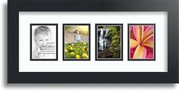 """ArtToFrames Collage Mat Picture Photo Frame - 4 2.5x3.5"""" Ope"""