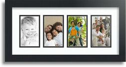 "ArtToFrames Collage Mat Picture Photo Frame - 4 3x5"" Opening"