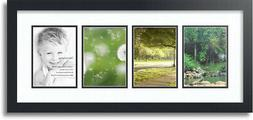 "ArtToFrames Collage Mat Picture Photo Frame - 4 5x7"" Opening"
