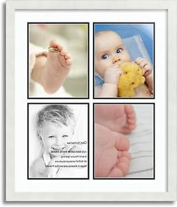 "ArtToFrames Collage Mat Picture Photo Frame 4 8x10"" Openings"